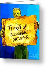 Frankenstein's Monster Turns Activist Greeting Card by John Malone