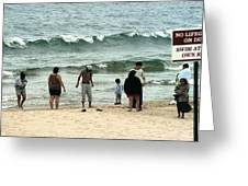 Frankfort Beach Greeting Card