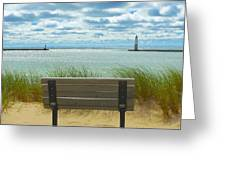 Frankfort Lighthouse Front Row Seats Available Greeting Card