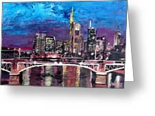 Frankfurt Main Germany - Mainhattan Skyline Greeting Card