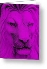 Frankie Lion Purple Greeting Card