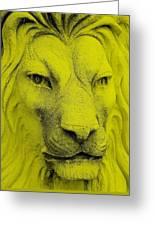 Frankie Lion Yellow Greeting Card