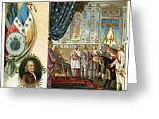 Franklin At Versailles Greeting Card