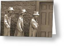 Franklin Delano Roosevelt Memorial - Bits And Pieces1 Greeting Card by Mike McGlothlen
