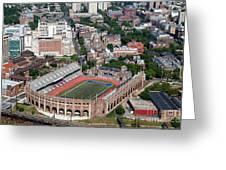 Franklin Field University City Pennsylvania Greeting Card by Bill Cobb