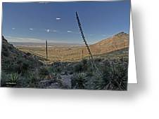 Franklin Mountains Landscape 4 Greeting Card