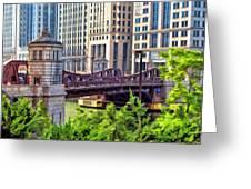 Franklin Street Bridge Greeting Card