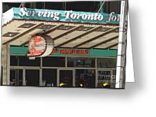 Fran's Restaurant  Toronto Diner Icon Greeting Card
