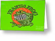 Frantic Frog Greeting Card