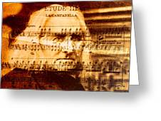 Franz Liszt Greeting Card