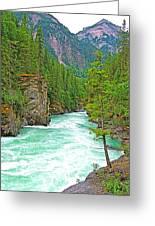Fraser River Beyond Overlander Falls Along Yellowhead Highway-bc Greeting Card