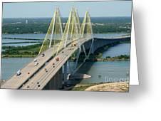 Fred Hartman Bridge Houston Greeting Card