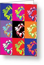 Freddie Mercury Pop Art Greeting Card