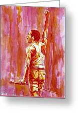 Freddie Mercury Singing Portrait.3 Greeting Card