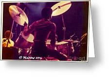 Freddie White Playing Drums Spirit Tour Greeting Card