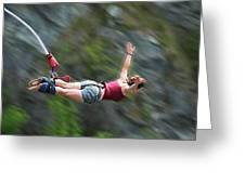 Free As A Bird Bungee Jumping Greeting Card