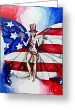Free As Independence Day Greeting Card by Shana Rowe Jackson