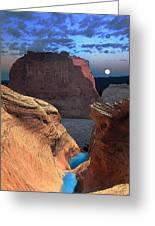 Free Climbing Glen Canyon Greeting Card by Ric Soulen