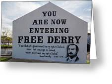 Free Derry Corner, Republican Political Greeting Card