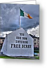 Free Derry Wall Greeting Card