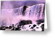 Free Falls Oil Effect Image Greeting Card