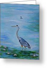Free Spirit Blue Heron Greeting Card