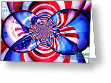 Freedom Abstract  Greeting Card