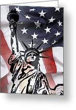 Freedom For Citizens Greeting Card by Daniel Hagerman