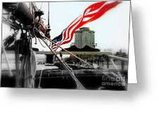 Freedom Sails Greeting Card by Michael Hoard