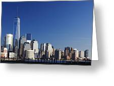 Freedom Tower And Lower Manhattan Greeting Card