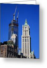 Freedom Tower And Woolworth Building Greeting Card