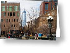 Freedom Tower From Washington Square Greeting Card