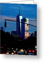 Freedom Tower New York Ny At Dusk Greeting Card