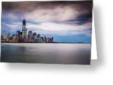 Freedom Tower Over The Hudson Greeting Card