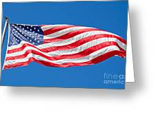 Freedom American Flag Art Prints Greeting Card