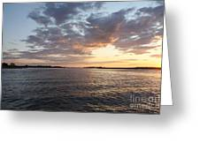 Freeport Cloudy Summertime Sunset Greeting Card