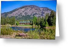 Freestone Inn Lakeside View Greeting Card