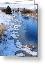Freeze On The Descutes Greeting Card