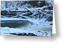 Freezing Dam Greeting Card