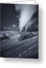 Freight Train About To Leave The Atchison Circa 1943 Greeting Card