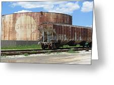 Freight Train Cars 4 Greeting Card