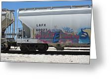 Freight Train Graffiti 7 Greeting Card
