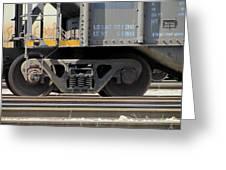 Freight Train Wheels 1 Greeting Card