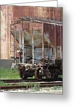 Freight Train Wheels 12 Greeting Card