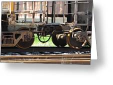 Freight Train Wheels 13 Greeting Card