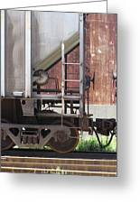 Freight Train Wheels 16 Greeting Card