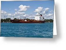 Freighter Greeting Card
