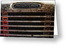 Freightliner Highway King Greeting Card