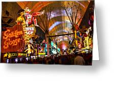 Fremont Street Experience Lights Greeting Card