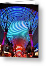 Fremont Street Experience Three Greeting Card